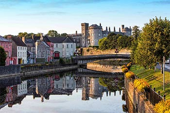 Early morning view of Kilkenny Castle and the River Nore