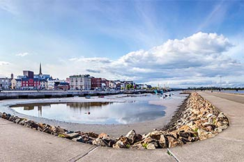 The Quayside at low tide in Wexford Town