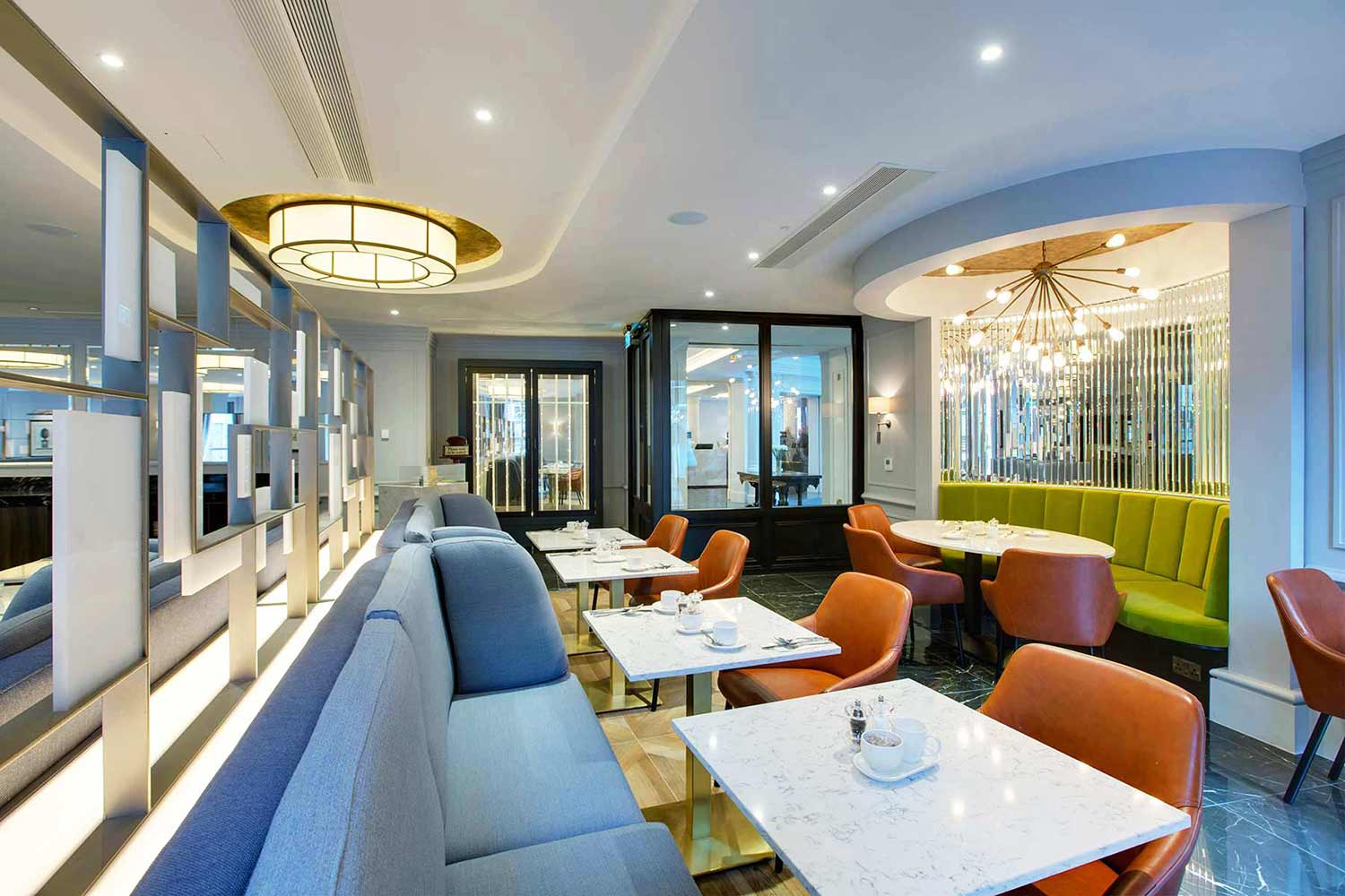 Stylish hotel restaurant