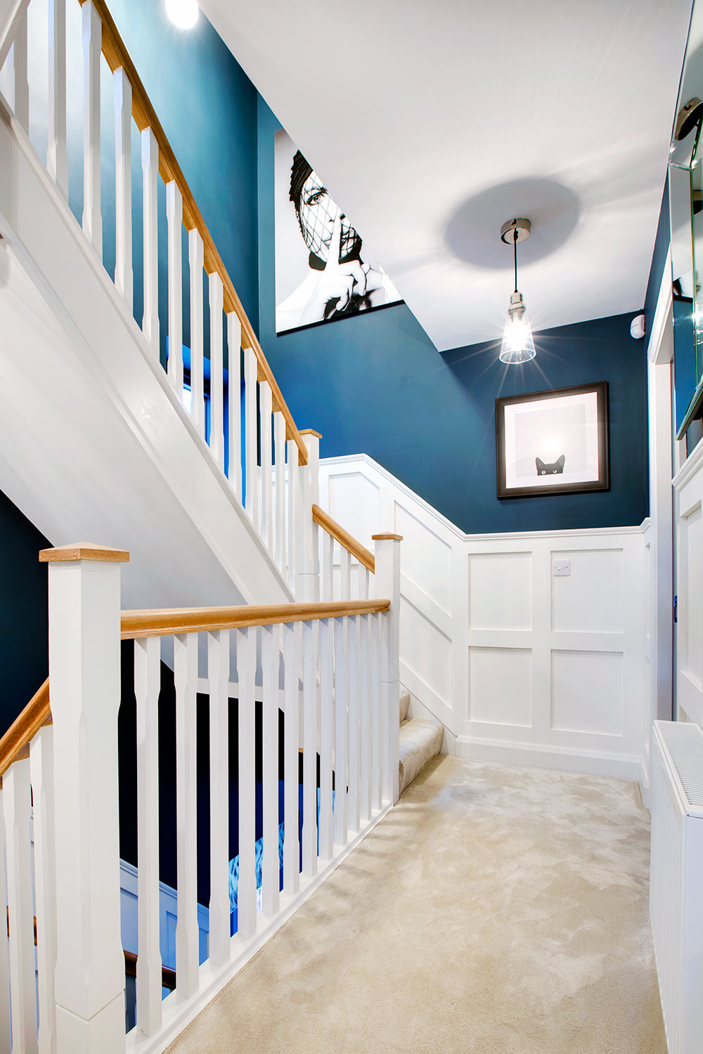 Hallway and landing interior design