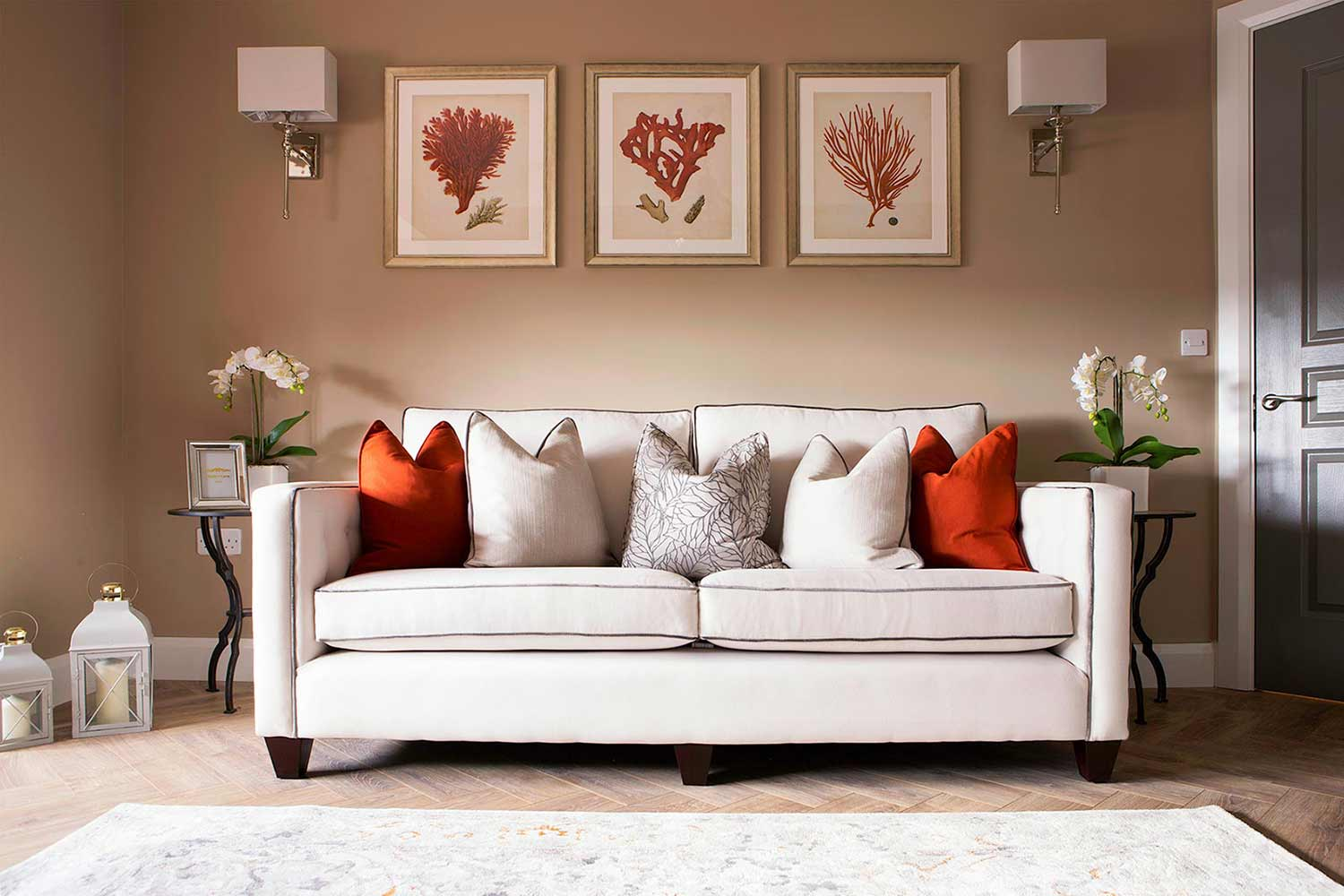 Living room sofa interior design
