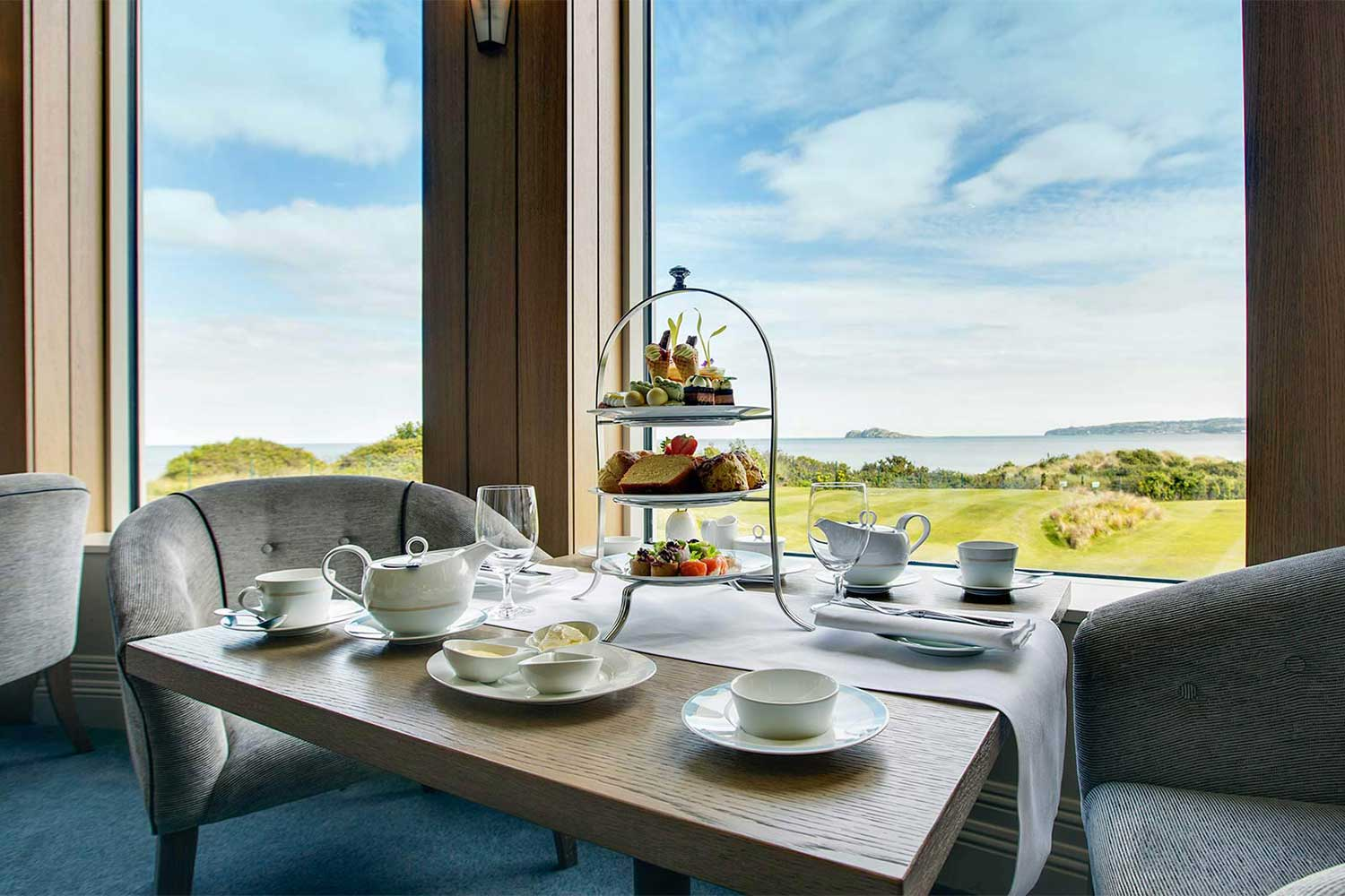 Afternoon tea and beautiful sea view
